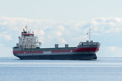 North Shore Trip - Oct 2016 - MV Elbeborg Approaches the Duluth Ship Canal (pmarkham) Tags: ship salty saltwatervessel lakesuperior northshore duluth mn usa