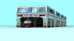 Straddle Bus (The Driving Dutchman) Tags: straddle bus straddlebus lego ldd ldd2povray povray