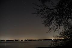 Long Exposure (Collin Groat) Tags: sky night stars k50 pentax longexposure afterdark potomacriver river