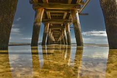 Port Welshpool Long Jetty (phunnyfotos) Tags: phunnyfotos australia victoria vic gippsland southgippsland portwelshpool 1936 1937 1938 jetty pier longjetty curvedjetty reflections reflection sea seaside shore shoreline coast coastal coastline nikon d750 nikond750 water port piers pylons summer tidal yellowstringybark heritage historic closed