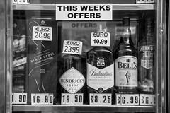 Gibraltar, U.K. #1 (Matthew on the road) Tags: gibraltar uk september 2016 september2016 english spain espana black white blachandwhite blackandwhite cigarette cigarettes liquor liquors window windows