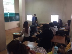 "Al-Farabi Kazakh National University - Lecture delivering <a style=""margin-left:10px; font-size:0.8em;"" href=""https://www.flickr.com/photos/89847229@N08/31256332781/"" target=""_blank"">@flickr</a>"