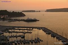 Pylos , the city of King Nestor (Chris Maroulakis) Tags: peloponnese pylos nestor king sunset marina nikon d7000 chris maroulakis 2016 sfaktiria island