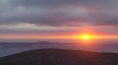 Daybreak (amy20079) Tags: october light dramatic nikond5100 newengland acadianationalpark mountains sunrise clouds landscape seascape sea ocean maine islands morning