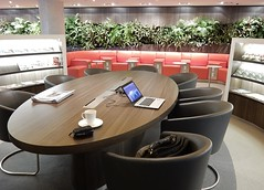 My Office For an Afternoon (mikecogh) Tags: sydney airport lunge skyteam empty comfortable table desk office work laptop coffee
