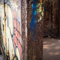 "20161016-0144 (www.cjo.info) Tags: bulgaria europe europeanunion m43 m43mount microfourthirds oblastplovdiv olympus olympusmzuikodigitaled918mmf4056 olympusomdem10 parkrozarium plovdiv plovdivprovince westerneurope blur bokeh bul""svoboda"" decay derelict digital flora focusblur graffiti metal park plant rust shallowdepthoffield shelter tree областпловдив паркрозариум пловдив бул""свобода"""