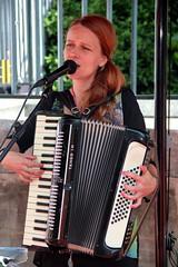 London Street Performer (Alan1954) Tags: woman london 2012 portrait musician candid accordion