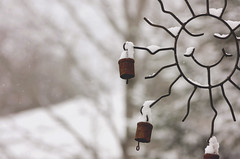 (Evangelina M) Tags: snowing windchimes winter