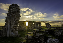 Mattersey Priory - Last of the light (Darren Flinders) Tags: priory ruins ancientbuildings ancientarchitecture doncaster matterseypriory england religion derelict sunset wintersun countryside cloudporn clouds tokina lightroom