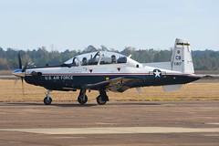 06-3817 Beech T6B KCBM 07-11-16 (MarkP51) Tags: 063817 beech t6b texan ii usaf columbus afb cbm kcbm mississippi usa military aviation aircraft airplane plane image markp51 nikon d7200 aviationphotography