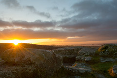 A Winter's Sunrise at Dewerstone (markcarroll4) Tags: rays granite cold winter sun dartmoor morning sunrise