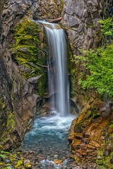 Christine Falls (Philip Kuntz) Tags: christinefalls waterfall falls vantrumpcreek rainier mtrainier mtrainiernationalpark washington