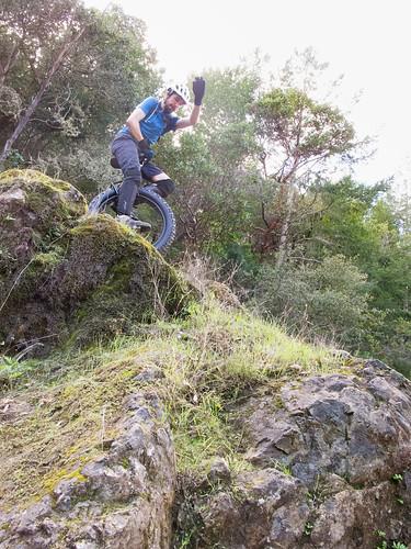 Josh on the boulder