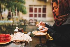 Isfahan (Paulina Wierzgacz) Tags: discover eat food breakfast garden people city hostel travel iran persia isfahan esfahan persiangulf portrait morning