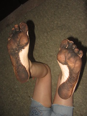 IMG_0004 (Elizabeth Townsend) Tags: dirty feet soles filthy black gre oily female