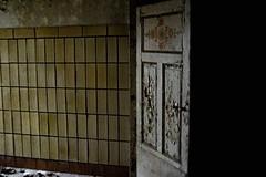 The Unknown (Gtantha) Tags: fliese keller tür angst unbekannt dunkelheit dunkel light shadow basement hell creepy old dark door nightmare decay verfall fear threatening bedrohlich ghost geister hauntedhouse