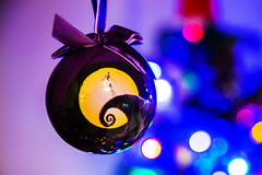 DAY 1 - Fave Colour - Purple (ClaireShepley) Tags: fmsfad photoaday christmas bauble purple nightmarebeforechristmas