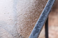 Rain on Ice (eL Bz) Tags: rain ice glass crackle cracking crackling