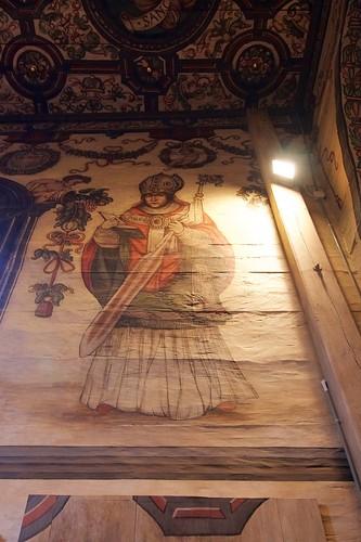 Św. Wojciech z wiosłem w kościele w Boguszycach
