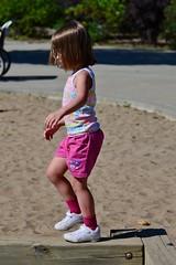 Balance Beam (Vegan Butterfly) Tags: cute girl walking kid vegan child exercise walk adorable beam balance balancing