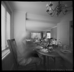 7-24-13.  New Home. (squaremeals) Tags: family home dinner table dc washington apartment pinhole foggybottom squaremeals