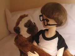 Monkey! 009 (EmpathicMonkey) Tags: toby ball asian toys dolls olive bjd photostory jointed bluefairy happymonkey