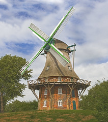 Midlum Windmill near Cuxhaven (B.Schroter) Tags: old windmill germany cuxhaven windmuehle landhadeln