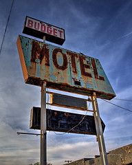 LZ (lazy?) Budget Motel Sign on Route 66 in Winslow, Arizona in HDR (eoscatchlight) Tags: arizona route66 roadsideamerica rustyandcrusty winslow fadingamerica lzbudgetmotel