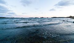 By the sea (Antti Tassberg) Tags: autumn sunset sea sun fall nature espoo finland lens landscape prime sundown meri syksy auri