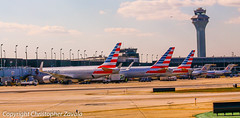 Chicago O'Hare International Airport- Terminal 3 American Airlines (Doctor Christopher) Tags: boeing americanairlines boeing767 md80 chicagoohareinternationalairport boeing767300