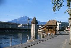 """y a pas l'feu au lac"" (sofarsocute 'NO fave n Run') Tags: suisse lucerne mountpilatus scanned35mmslide tripfrommonstocanneviaswitzerlandnitaly"