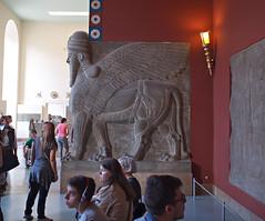 Winged lion with human head (nisudapi) Tags: berlin germany pergamonmuseum assyrian 2014 wingedlion ashurnasirpalii