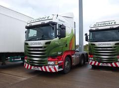 H8108 - PE64 ESO (Cammies Transport Photography) Tags: yard truck energy grace lorry eddie aw eso scania renewable esl lockerbie jenkinson noelene stobart eddiestobart r450 pe64 h8108 pe64eso