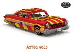 Linotopia - Aztec Gold - 1961 Dodge Polara (lego911) Tags: auto birthday usa classic hardtop car america gold model lego aztec render 25 dodge 1960s chrysler 300 7th coupe challenge lino 1961 cad lugnuts povray 84 moc polara ldd miniland foitsop iwannabelikeyou lego911 linotopia lugnutsturns7or49indogyears