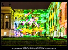 Hauptgebäude Humboldt-Universität - Festival of Lights 2014 (Hagens_world) Tags: alemania architecture architektur art baukunst bauwerk berlin casa daytime deutschland festivaloflights flickr germany hauptstadt haus house konstruktion kultur kunst markerblue nacht night rating3 repúblicafederaldealemania selection tageszeit urban arquitectura arte building capital casas construction dark dunkel noche europa hagensworldphotography