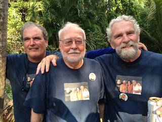 """The Bobs"": Artist Robert Chambers, Bob Sindelir, former director of Miami Dade College's galleries, and artist Bob Thiele at the Bob Huff celebration"