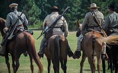 Rebels (NYKat33) Tags: atlanta horses horse mill ga nikon war rifle battle riding civil american browns shooting reenactment d3100