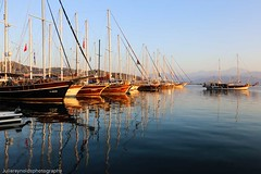 Fethiye Harbour (juliereynoldsphotography) Tags: morning reflections boats harbout turkeyfethiyecalis