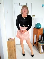 Short Pink skirt (Trixy Deans) Tags: cute sexy classic tv legs cd skirt crossdressing tgirl tranny transvestite trans transgendered miniskirt crossdresser crossdress skirts transsexual classy shemale trixy miniskirts shemales xdresser transvesite sexyheels crossdreeser trixydeans sexytransvestite