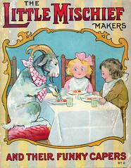 Little Mischief Makers front cover (katinthecupboard) Tags: 1917 vintagechildrensillustrations vintagechildrensverses