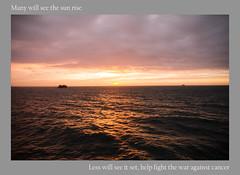 War against cancer (Rusty Marvin - Imagery by John) Tags: morning light cloud sun sunrise war horizon cancer rise