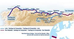 El Transcantabrico 2015 Map (Train Chartering & Private Rail Cars) Tags: railtour traintour transcantabrico luxurytraintravel eltranscantabrico luxuryrail spanishluxury luxurytrainspain