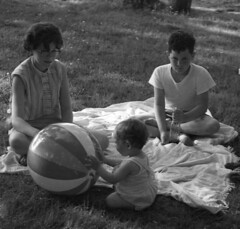 Playing in the grass 1959 (hbk1955) Tags: vintage 1950s unknown 1959 readingpa
