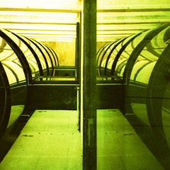 helical stairs (pho-Tony) Tags: auto color colour green film contrast rollei 35mm xpro olympusstylusepic cross infinity grain shift slide tint olympus cast crossprocessing stylus process hue e6 epic f28 parkhill stylusepic compact colorcast autofocus  colourcast c41 olympusmjuii mjuii autaut cr200 olympusmjuii digibase rolleidigibasecr200 filmrolleidigibasecr200