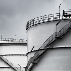 Bounce (nickvrstp) Tags: port docks harbor industrial harbour oil antwerp tanks