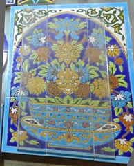Cermicas Mezquita del Shah o Imam Isfahn Irn 09 (Rafael Gomez - http://micamara.es) Tags: geometrico floral del ceramics iran o or persia mosaico mosque mezquita azulejo  isfahan shah imam irn      esmaltado cermicas  isfahn