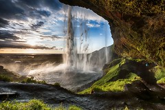 Sunset At Seljalandsfoss (Kristinn R.) Tags: sky grass clouds waterfall iceland nikon seljalandsfoss d3x nikonphotography kristinnr