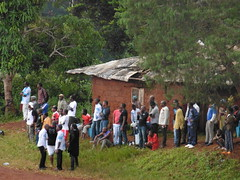Dorftreffen in Babouantou
