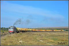 60-1281-9 (Zoly060-DA) Tags: brown yellow train grey hp diesel swiss romania da co freight locomotives aluminium marfa cfr 060 2100 1281 tulcea slatina alro 1278 uacs medgidia boveri outstandingromanianphotographers