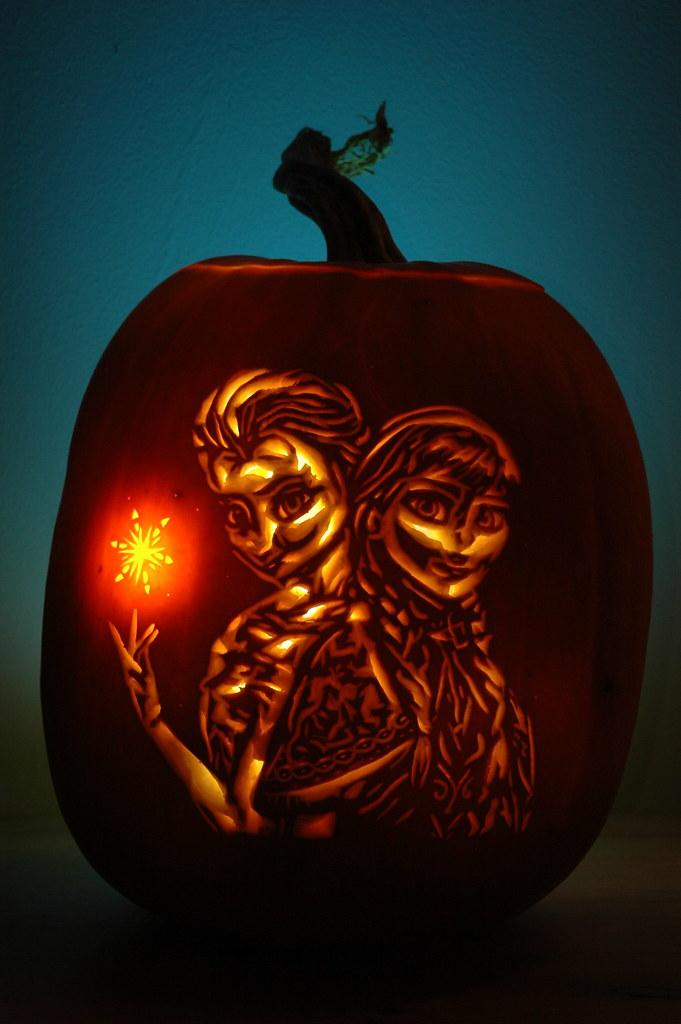 Elsa and anna pumpkin patch